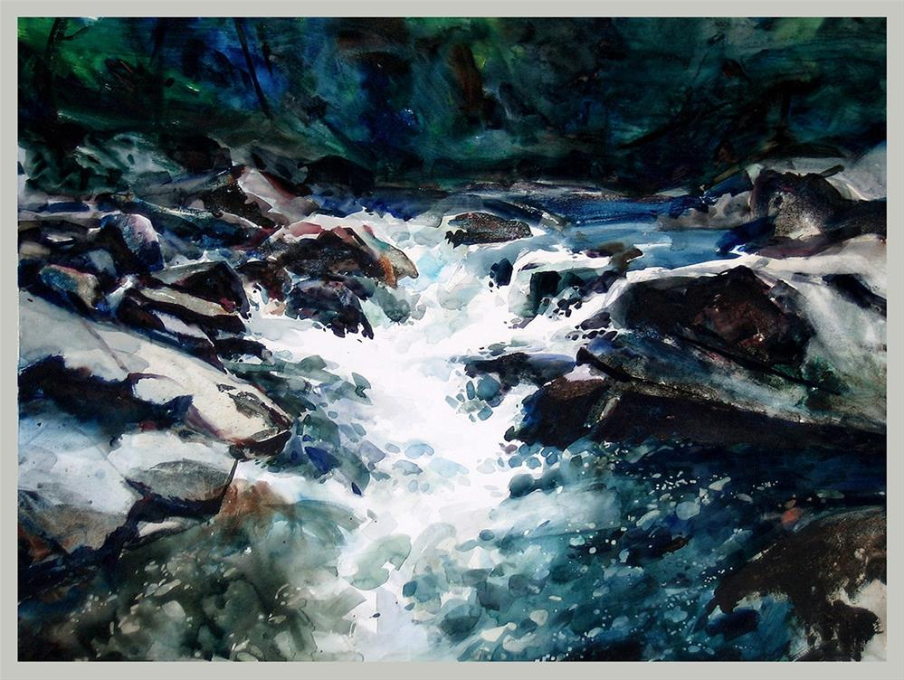 """Chatooga Falls"" original fine art by Stephen Ravenscraft"