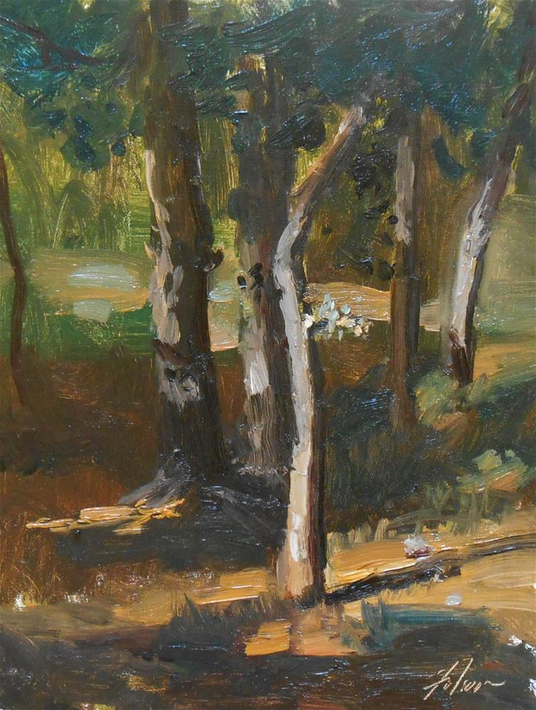 """Solace of the Woods"" original fine art by Kelli Folsom"