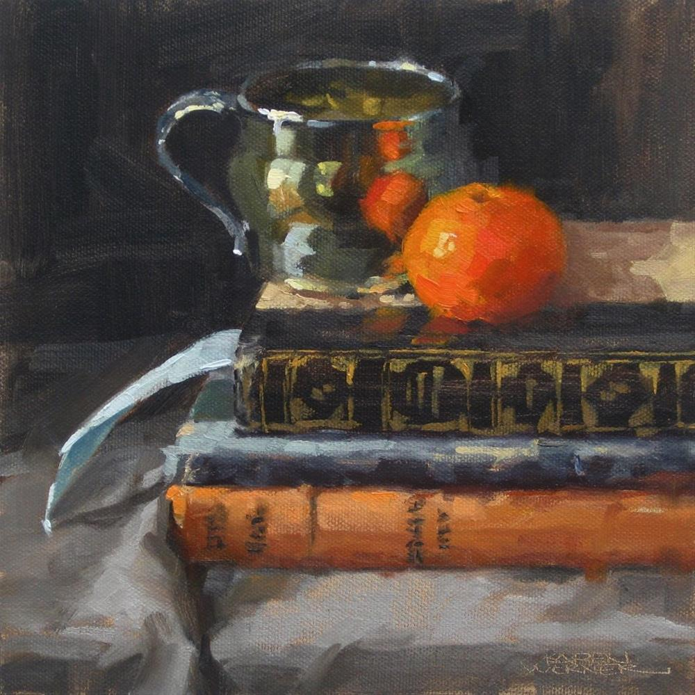 """Studied Tangerine"" original fine art by Karen Werner"