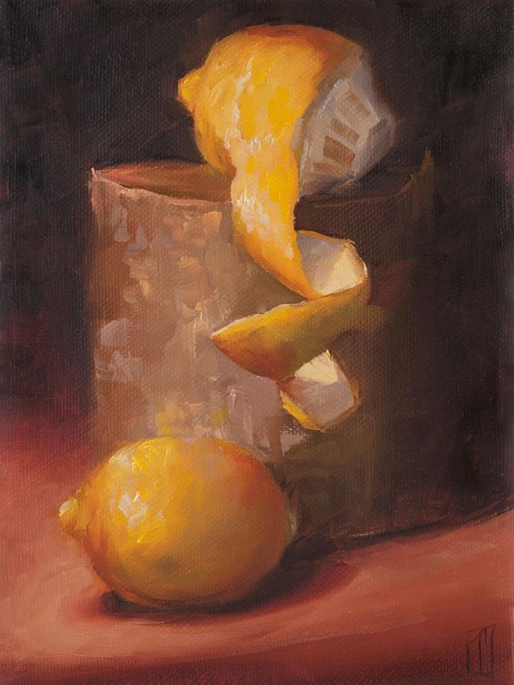 """Stump Studies 2 Lemons"" original fine art by Lori Twiggs"