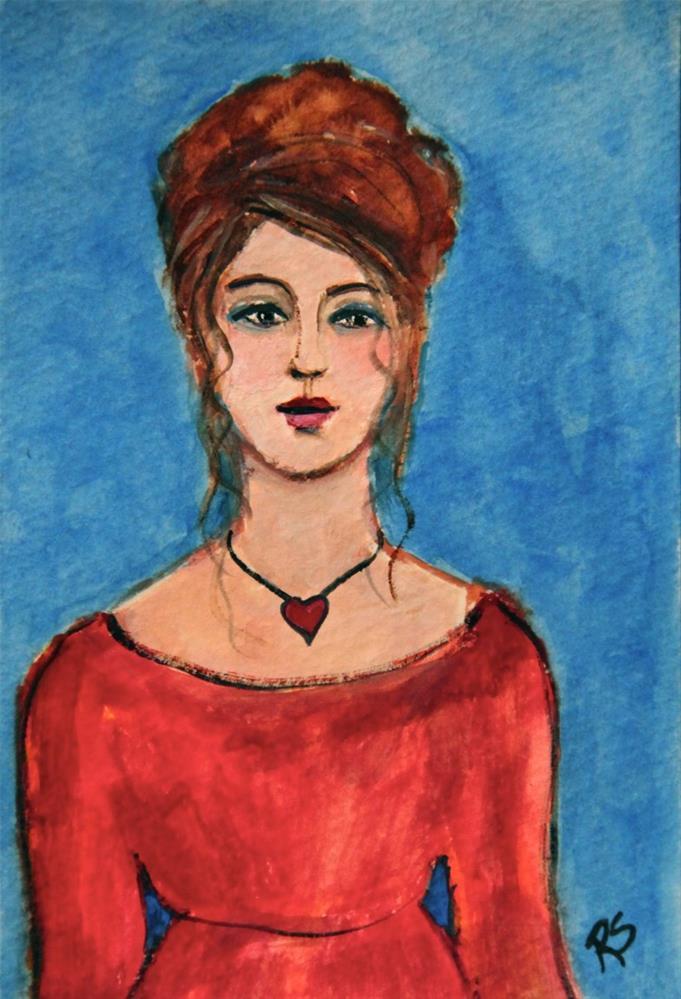 """Scarlett"" original fine art by Roberta Schmidt"