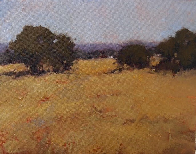 """The Ranch in January"" original fine art by Julie Davis"