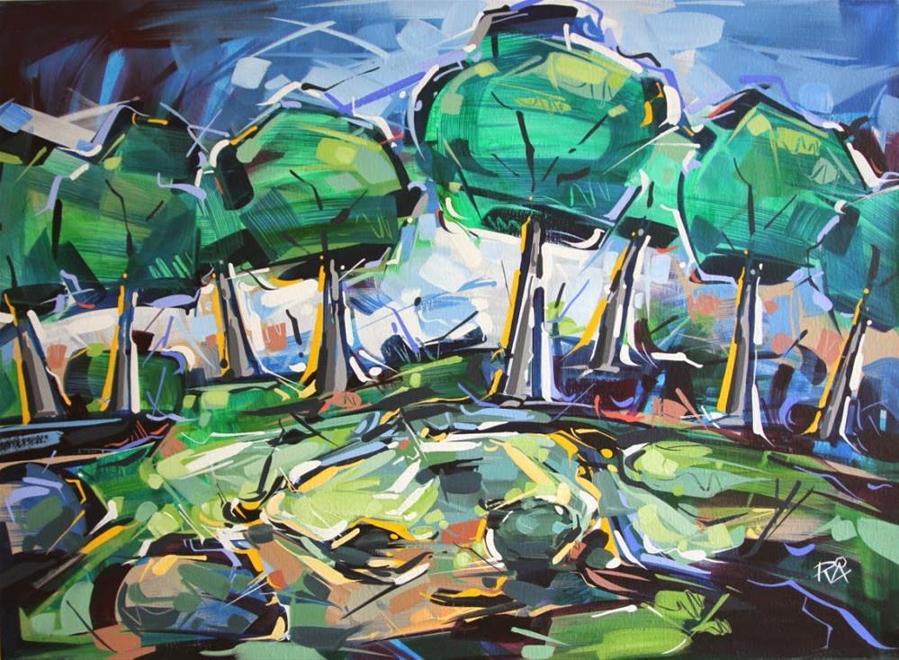 """Landscape Exploration 18"" original fine art by Roger Akesson"