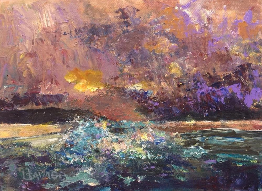 """Storm at Sea"" original fine art by Judy Usavage"