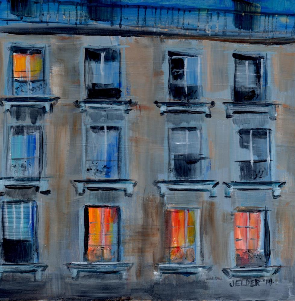"""Paris No. 16, Across the Way"" original fine art by Judith Elder"