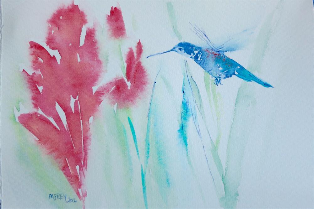 """Hummingbird 0120"" original fine art by Michelina Frey"