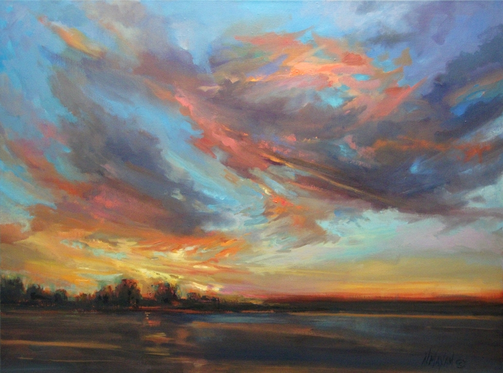 """Sky Song"" original fine art by Mary Maxam"