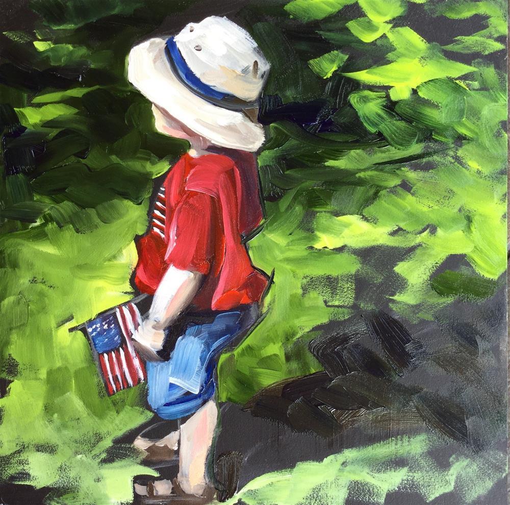 """""""Patriotism"""" original fine art by Lauren Kuhn"""