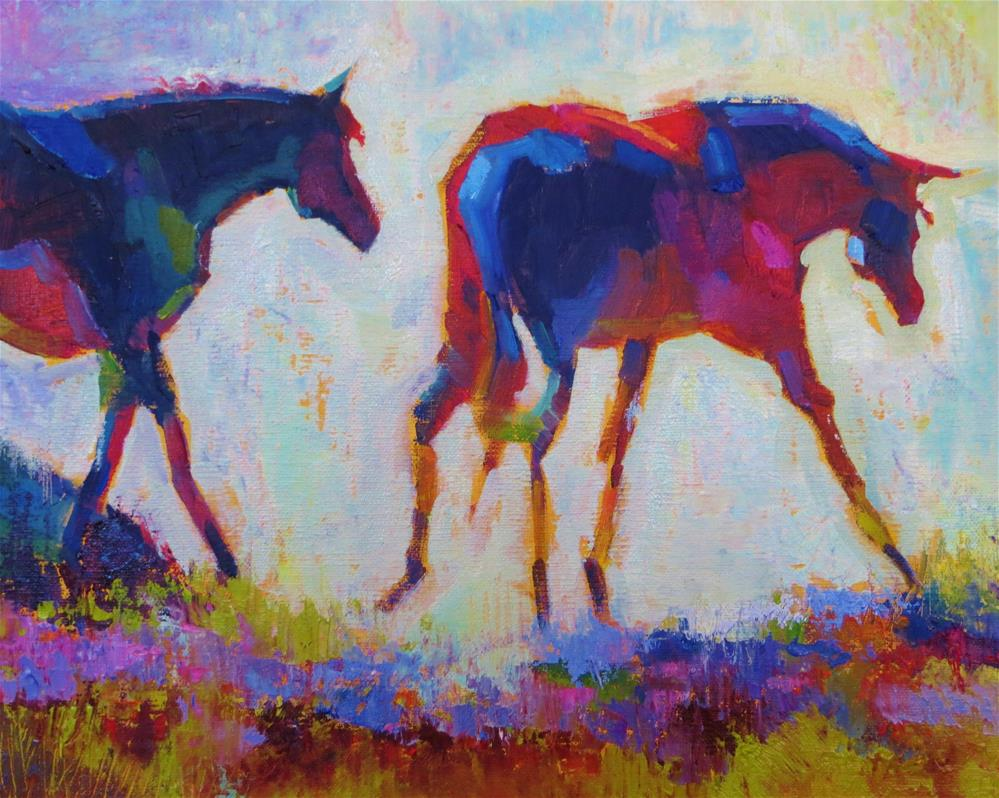 """Floral Fillies"" original fine art by Scarlet Owl Studio"