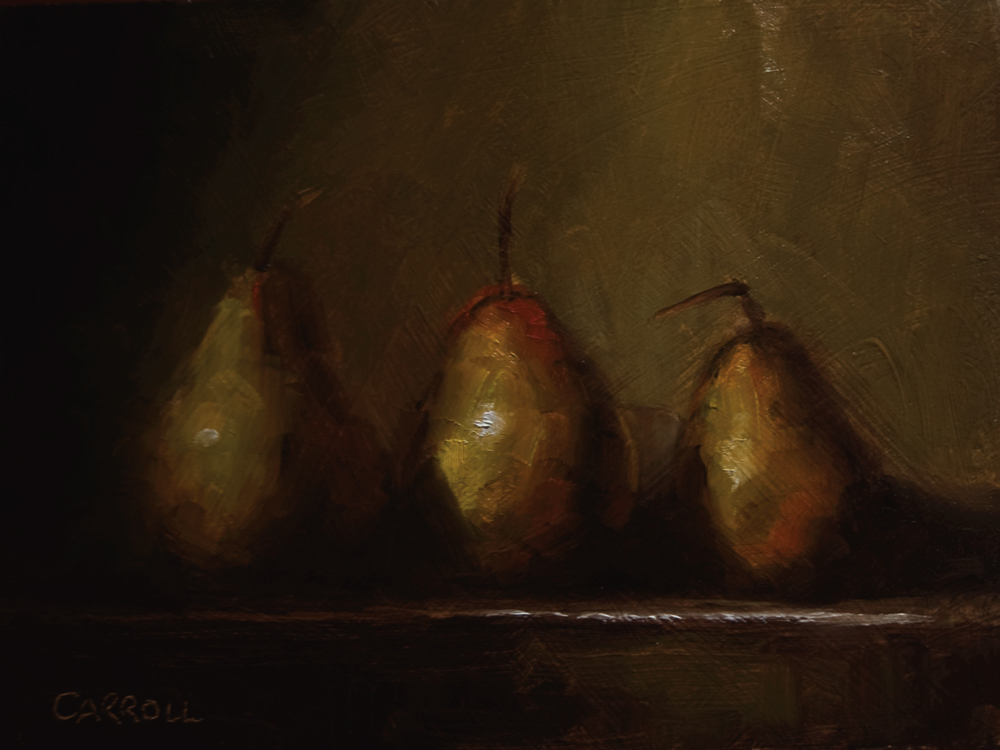 """Yellow Pears"" original fine art by Neil Carroll"