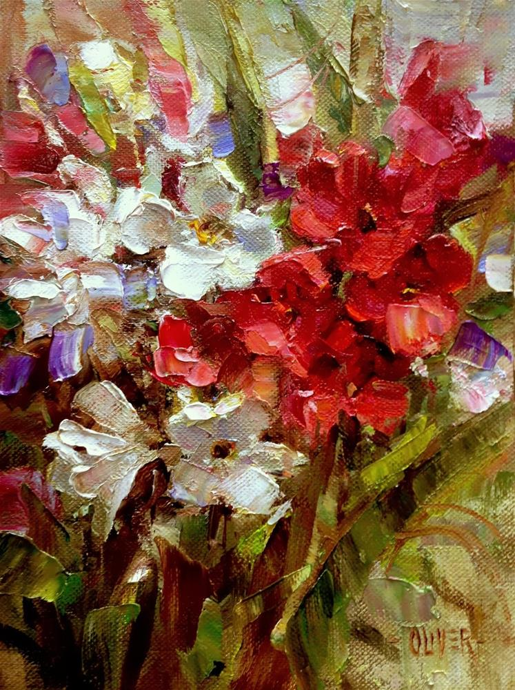 """Oleanders From Betty"" original fine art by Julie Ford Oliver"