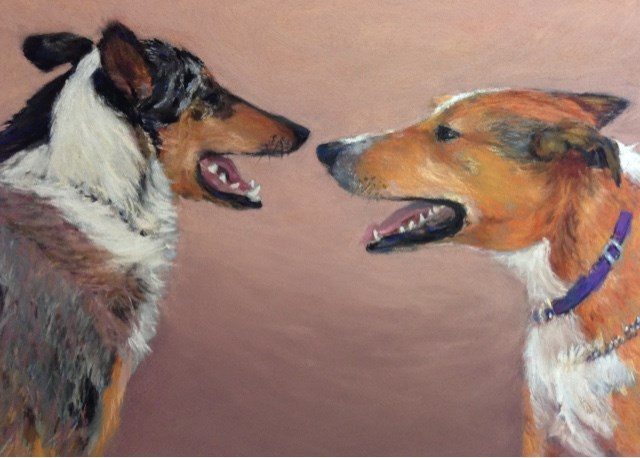 """Jack and Lucy"" original fine art by Cindy Gillett"
