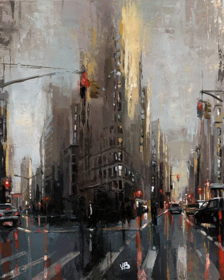 """""""Flatiron Building"""" original fine art by Victor Bauer"""