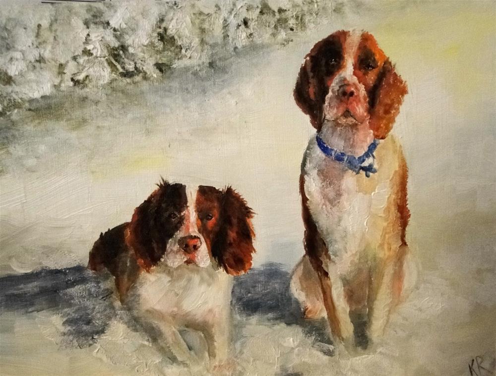 """""""Snow angels"""" original fine art by Karen Robinson"""