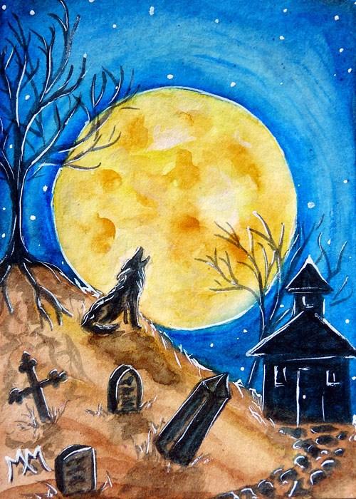 """Haunted Evening"" original fine art by Monique Morin Matson"