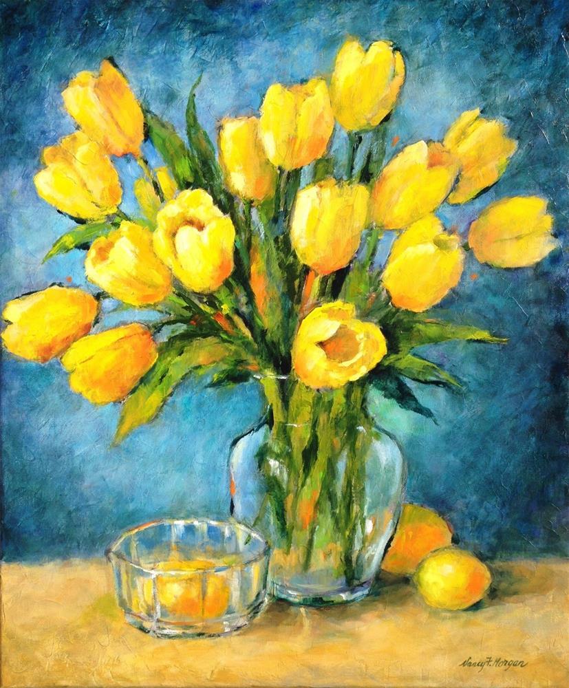 """Tulips in the Light"" original fine art by Nancy F. Morgan"