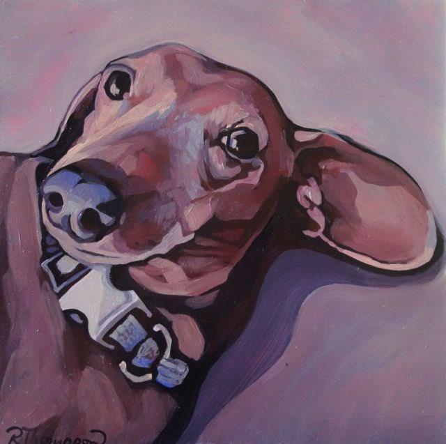 """Amber - Reserved"" original fine art by Rachel Thompson"