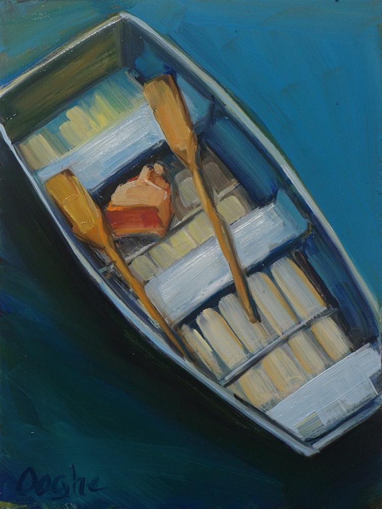 """Rowboat"" original fine art by Angela Ooghe"