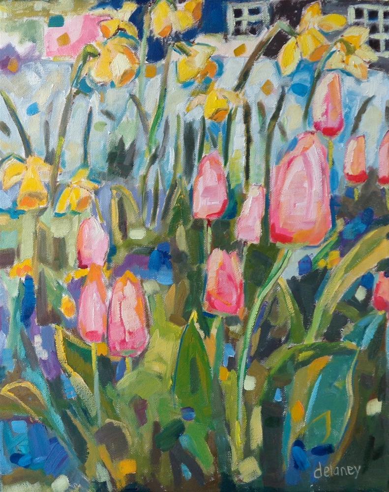 """SMALL TOWN FLOWERS"" original fine art by Jean Delaney"