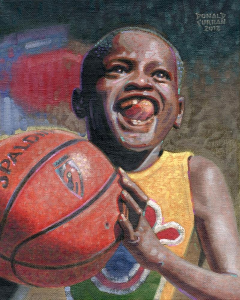 """Hoops"" original fine art by Donald Curran"
