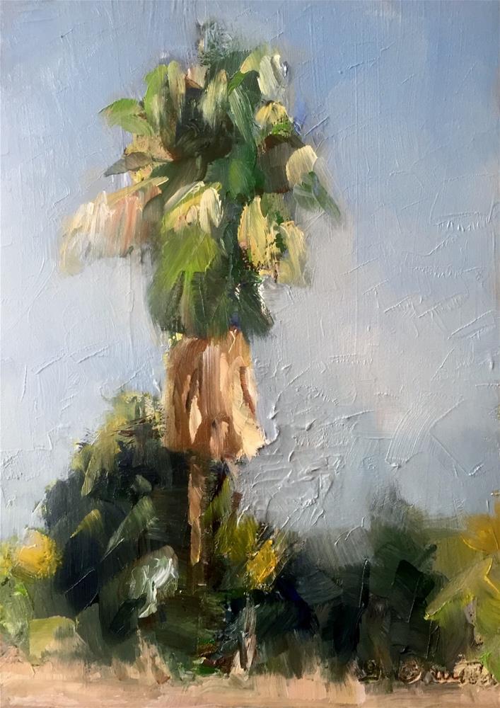 """""""Palm Plein air"""" original fine art by Gary Bruton"""