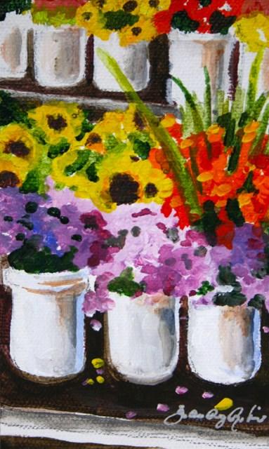 """""""Morgan Hill Farmer's Market"""" original fine art by JoAnne Perez Robinson"""