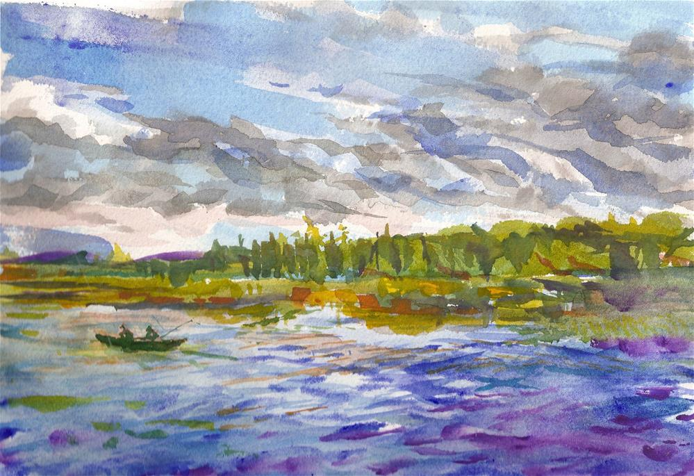 """Raquette Lake Inlet, Adirondacks, NY"" original fine art by Jean Krueger"