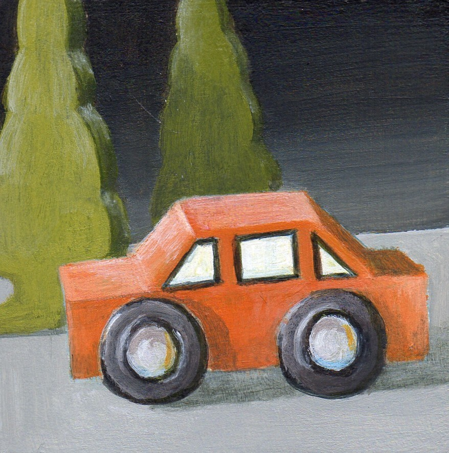 """Night Drive"" original fine art by Debbie Shirley"
