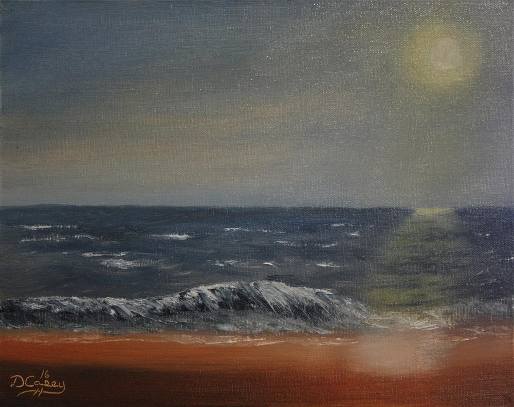 """""""Early Morning at the Beach"""" original fine art by Dave Casey"""
