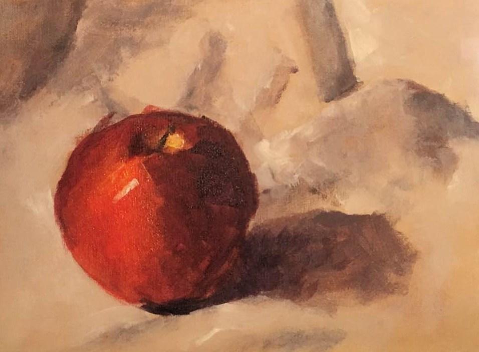 """""""The Wishing Apple"""" original fine art by Susan Elizabeth Jones"""