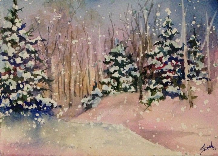 """Woodland Dawn"" original fine art by Sue Dion"