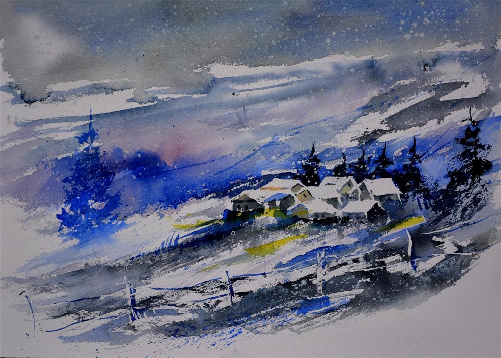 """""""watercolor 512120"""" original fine art by Pol Ledent"""