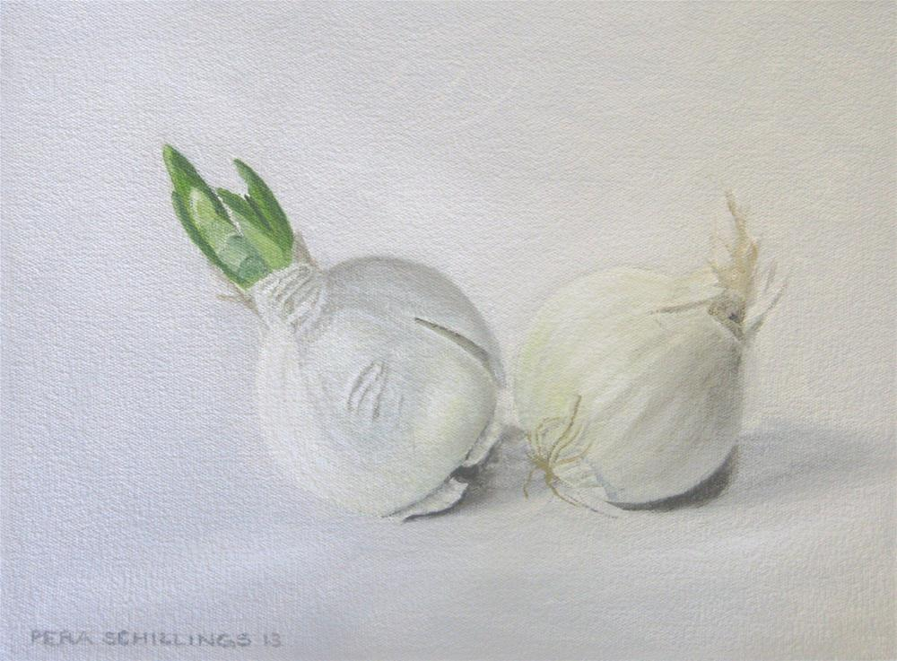 """White Onions"" original fine art by Pera Schillings"