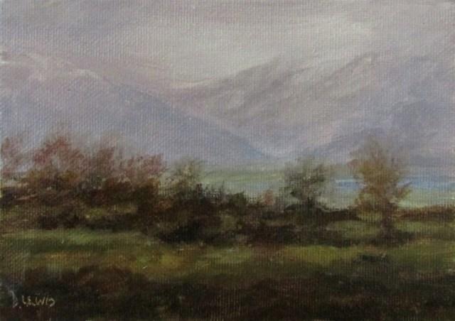 """Misty Glacier"" original fine art by Christine Lewis"