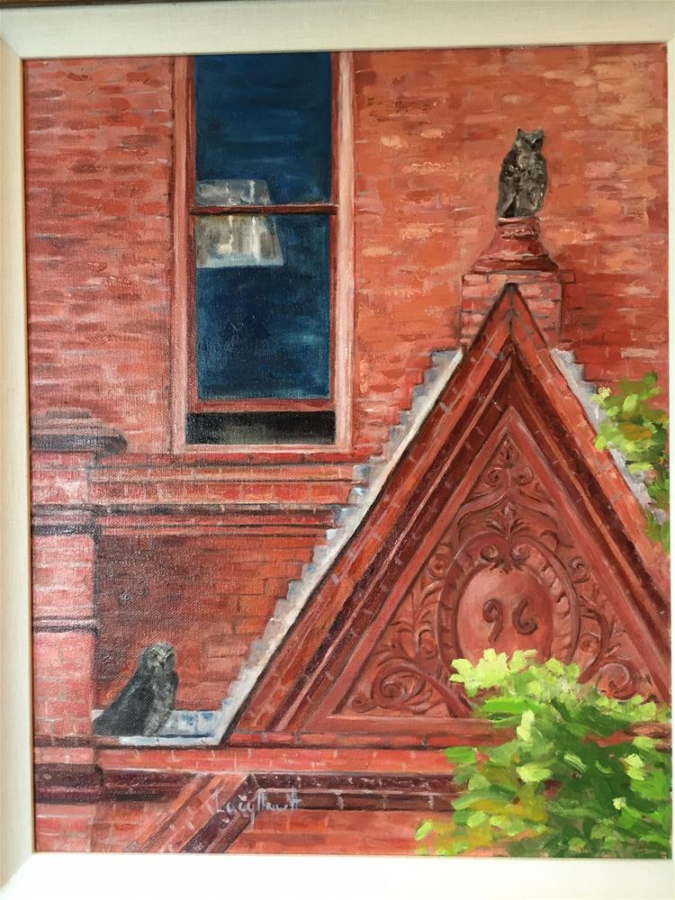 """MONTANA HALL OWLS"" original fine art by Lucy Hammett"