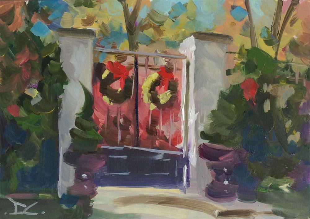 """"""" Christmas Greetings """" original fine art by Doug Carter"""