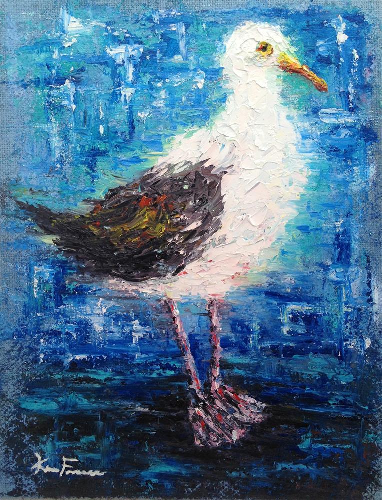 """Seagull Study"" original fine art by Ken Fraser"