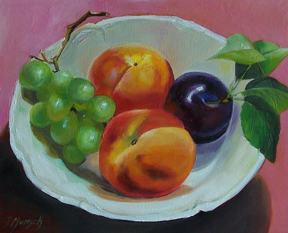 """Fruit Bowl"" original fine art by Donna Munsch"