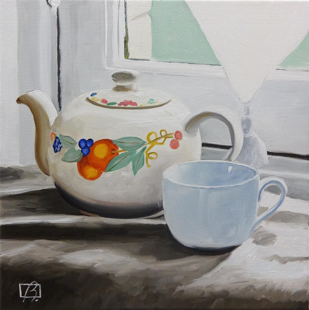 """Mrs. Earl Grey"" original fine art by Andre Beaulieu"