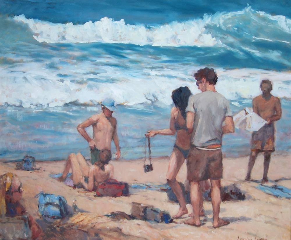 """Sun - n - surf"" original fine art by Lorraine Lewitzka"