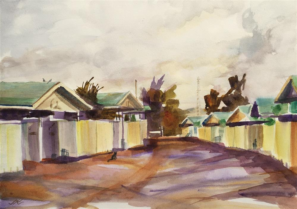 """Alley - Sun City, AZ"" original fine art by jean krueger"