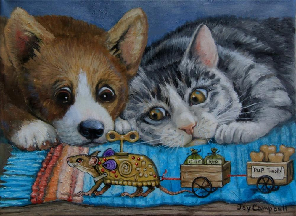 """Trojan Mouse"" original fine art by Joy Campbell"
