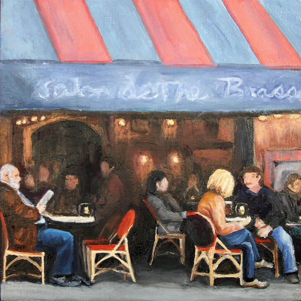 """Cafe Crowd"" original fine art by Patricia Matranga"