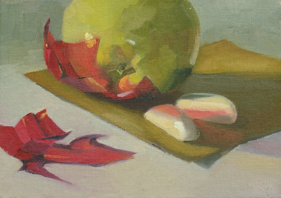 """Snack with Cellophane"" original fine art by Rebecca Helton"