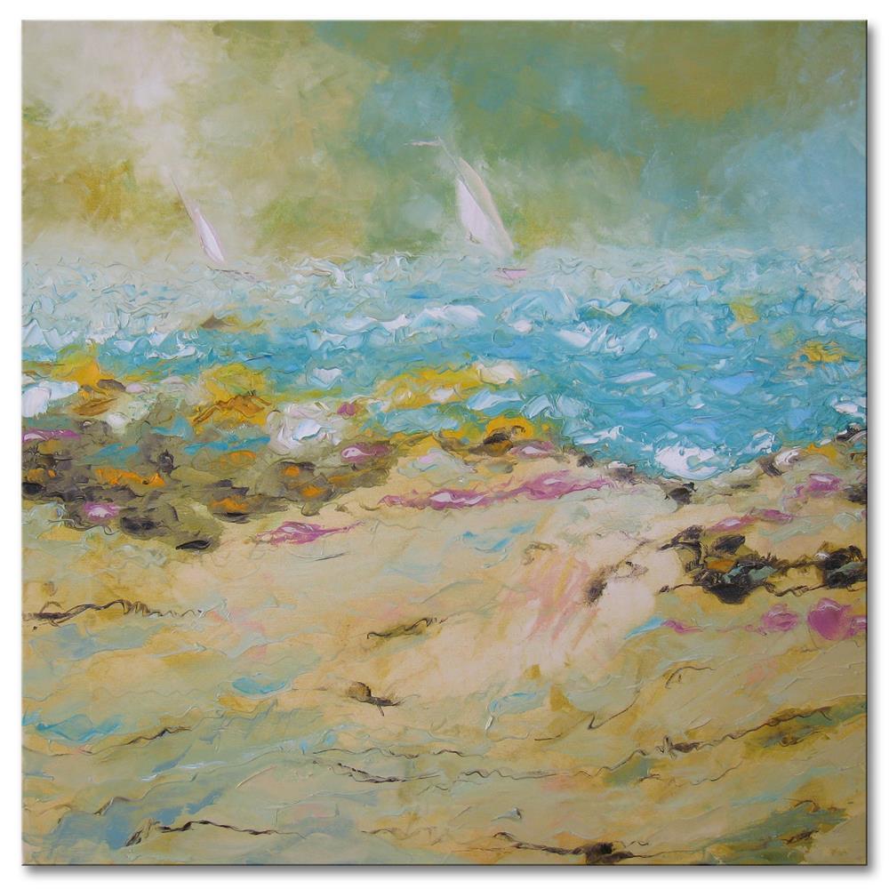 """""""Blue tide"""" original fine art by Elena Lunetskaya"""