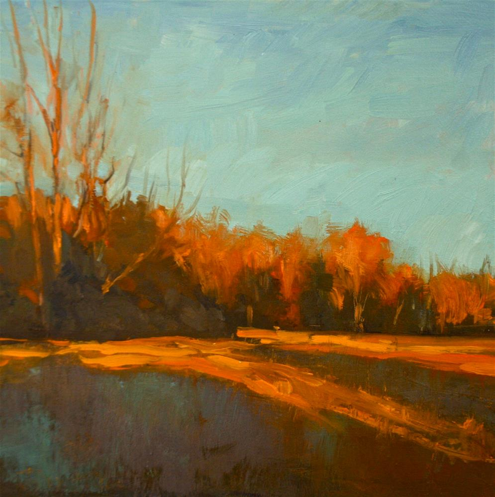 """Fall Fields"" original fine art by Jane Robertson"