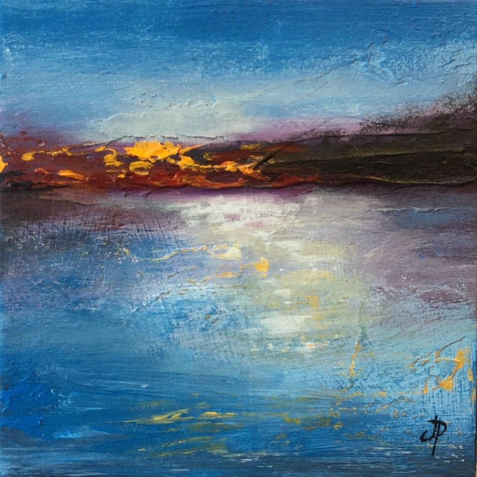 """Blue"" original fine art by Jane Palmer"