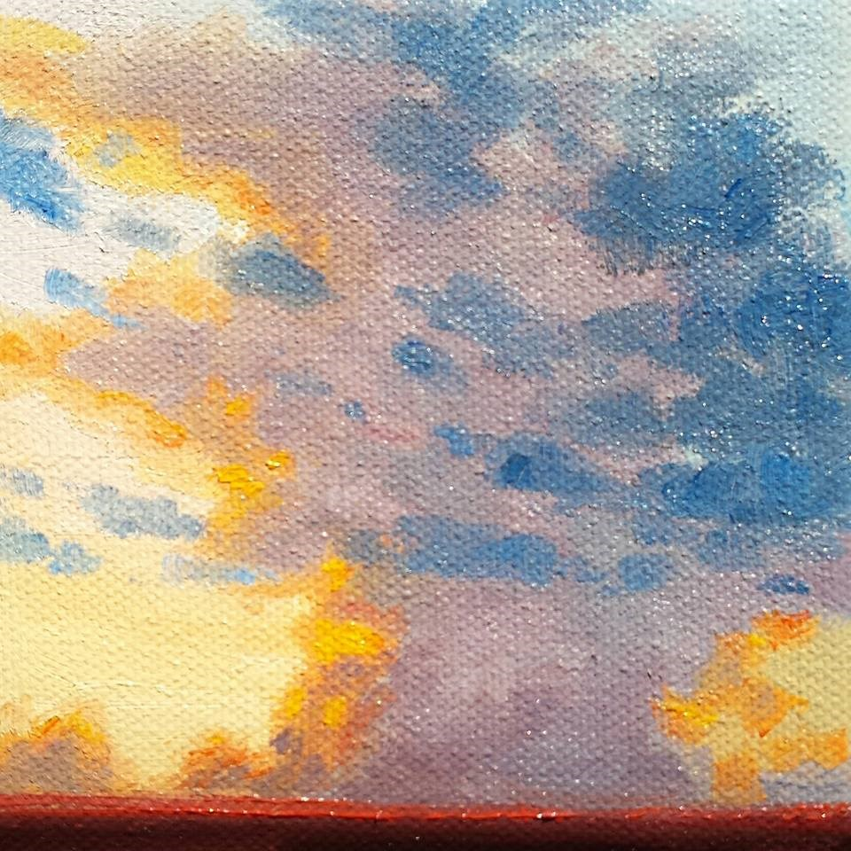 """Color Clouds Before A MonSoon"" original fine art by K.R. McCain"