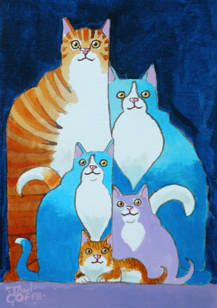 """A Nuclear Family"" original fine art by Toni Goffe"