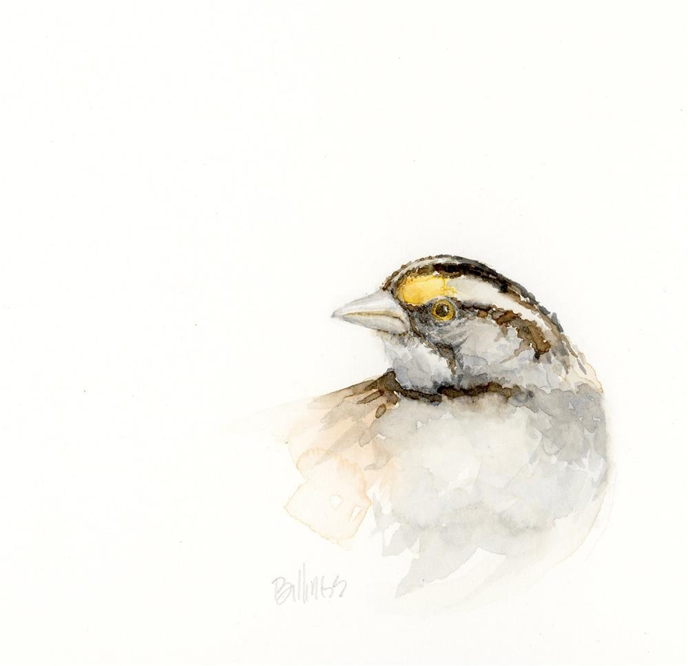 """Sparrow Portrait II"" original fine art by Susanne Billings"